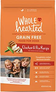 WholeHearted Grain Free All Life Stages Chicken & Pea Recipe Dry Dog Food, 25 lbs.