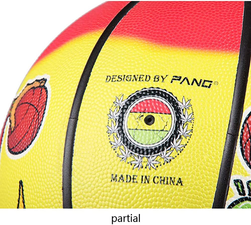 Original Graffiti No. 7 PU NBA Street Outdoor Basketball (7, Yellow) : Clothing