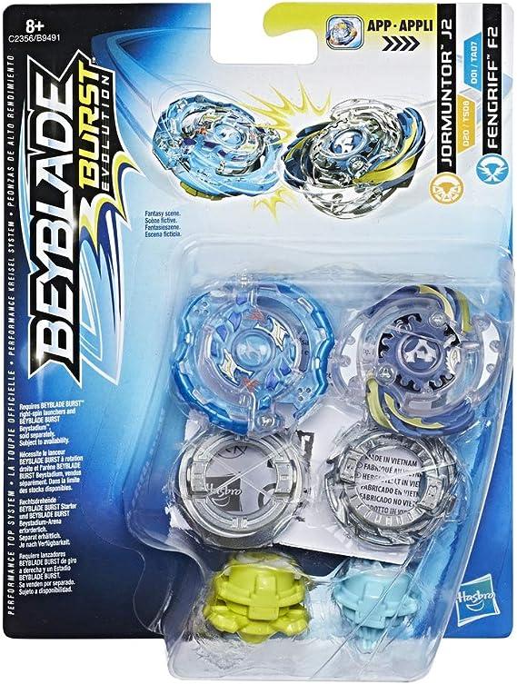 Beyblade- Pack de Dos Peonzas, modelos surtidos (Hasbro B9491EU6 ...