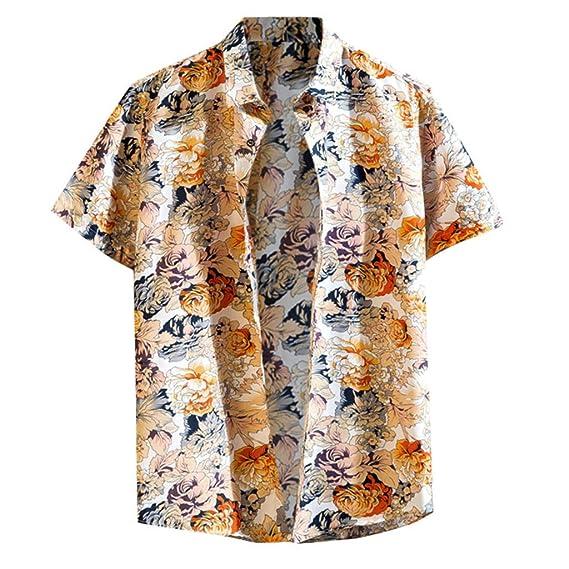 new style f98d2 9073c YU'TING ☀‿☀ Camicie Hawaiane Uomo, Shirt Camicia Hawaiana ...