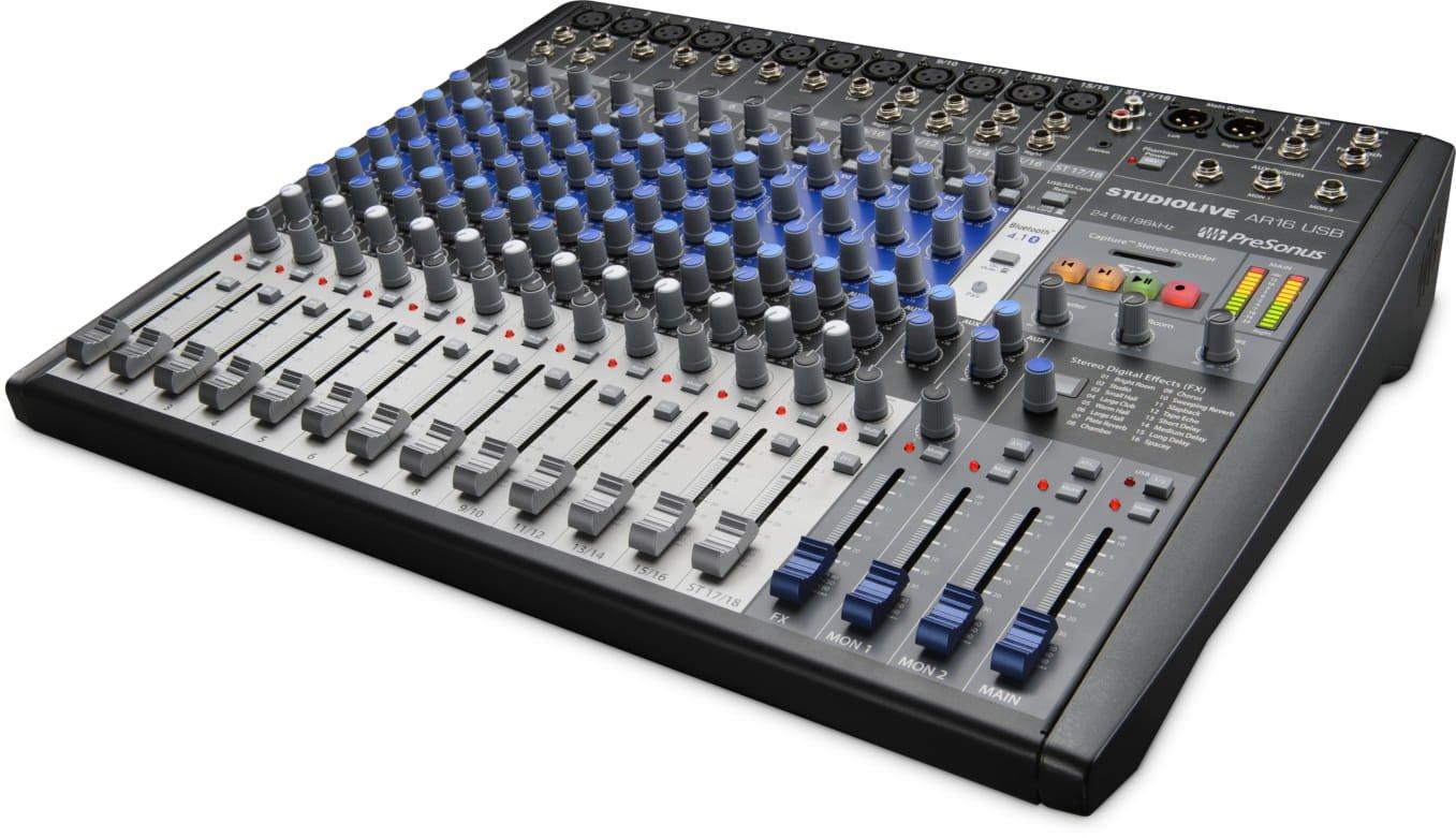 PreSonus StudioLive AR8 USB 8-Channel hybrid Performance and Recording Mixer SLMAR8