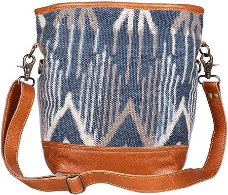 Amazon Com Myra Bags Blue Mist Canvas Leather Rug Shoulder Bag S 1954 Shoes Myra bags, highlands ranch, colorado. amazon com