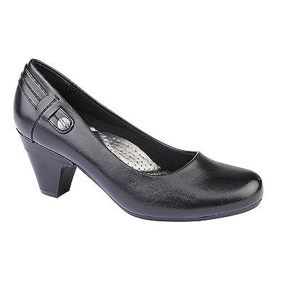 c3c7edf1249b9 Boulevard Womens/Ladies Wide Fitting Court Shoe: Amazon.co.uk: Shoes & Bags