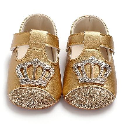 8eb358023484c Decdeal Nouveau Né Petites Filles Bébé Chaussures Doux Bébé Filles  Chaussures Doux Semelle Non-Slip