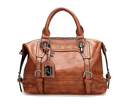 JOYSON Damen Handtaschen Schultertaschen PU Leder Taschen Umhängetaschen  Damen PU Leder Hobo Taschen Henkeltaschen Grosse Kapazität ... 069104911f