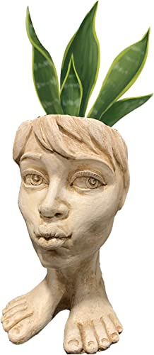 Muggly Aunt Tia Maria Planter Face Pot Patio Garden Statue
