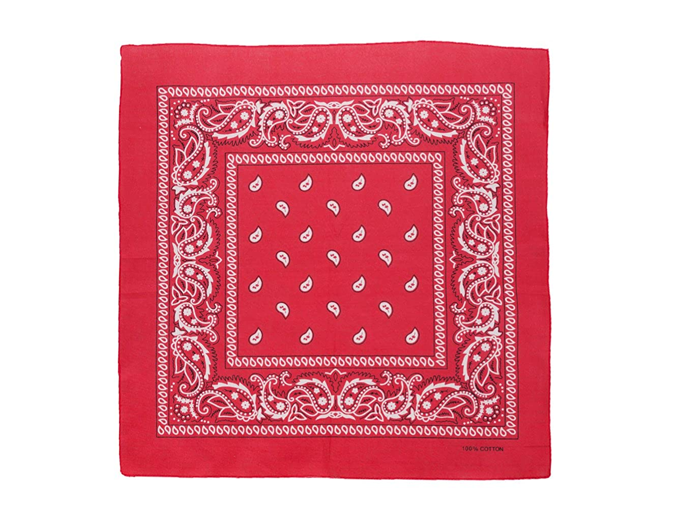 Bandana Kopftuch Tuch 100/% Baumwolle Halstuch Nickituch Paisley  Light Pink