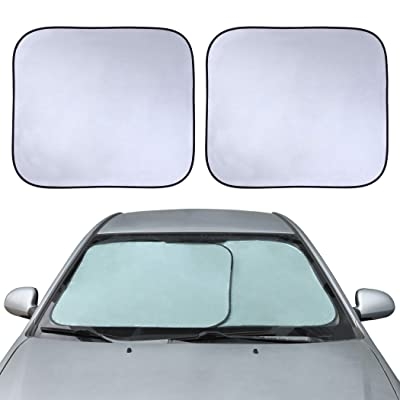 "CARTMAN Windshield Sun Shade - 61"" (2pk 30.7"") x 28"" Car Front Window Sunshade: Automotive"