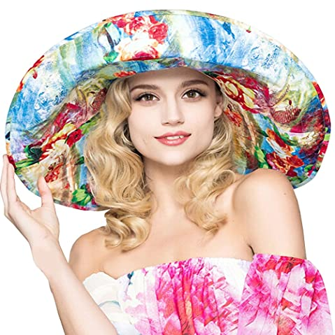 e02a31c877b Maitose™ Women s UV Sun Protection Beach Wide Brim Fishing Hat