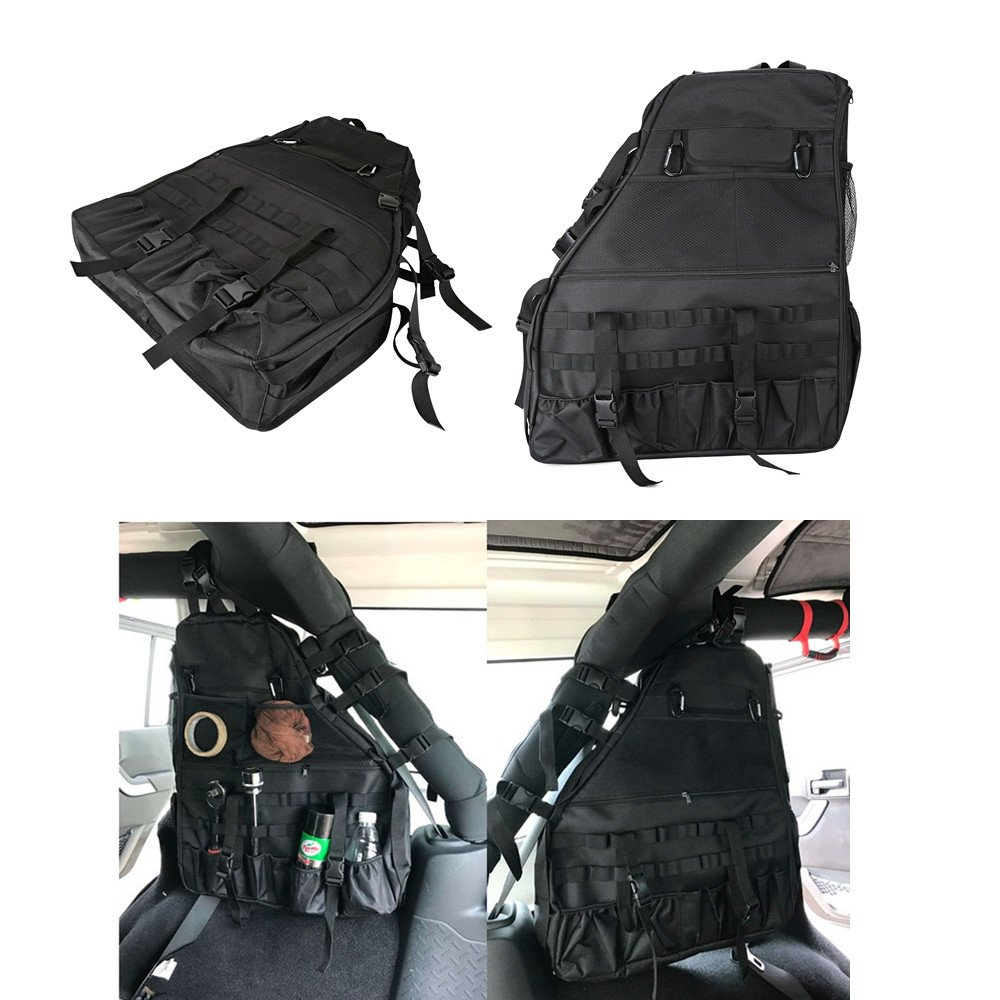 Opall Roll Bar Storage Bag Cage with Multi-Pockets /& Organizers /& Cargo Bag Tool Kits for Jeep Wrangler JL 2018