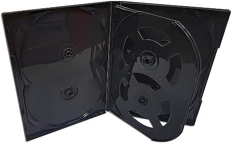 DVD Center - Caja para 6 DVD, color negro: Amazon.es: Oficina y papelería