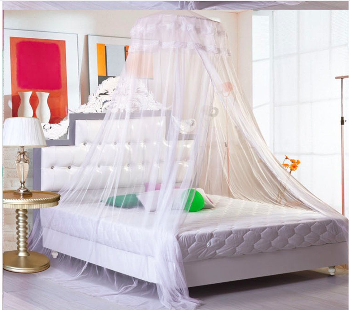 Sell4Style Mosquito Net for Bed Canopy Dome Elegant Lace For Crib Twin Full Queen Bed