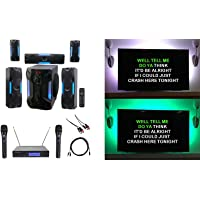 Rockville Bluetooth Home Theater Karaoke Machine System w/8' Sub + Wireless Mics