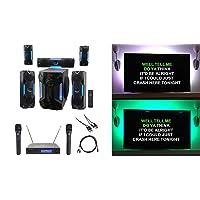 Rockville Bluetooth Home Theater Karaoke Machine System w/8