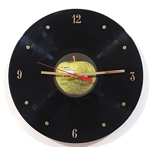 The Beatles Vinyl Record Wall Clock Apple Label . Made with The Real Beatles Record