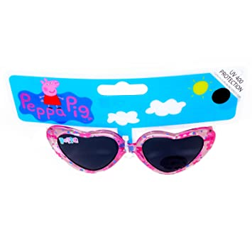 e9140decee Kids Girls PEPPA PIG Character Pink Floral Heart Sunglasses Heart Shape AGE  3+ UV PROTECTION EX STORE Official  Amazon.co.uk  Toys   Games