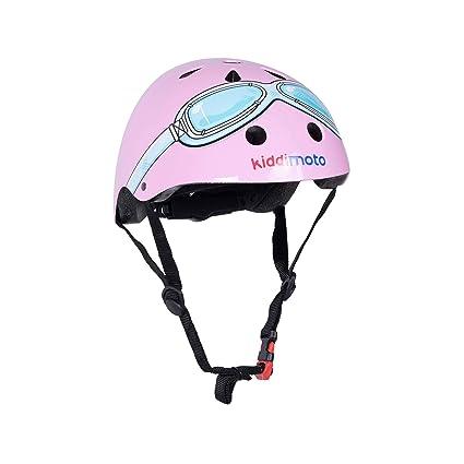 KIDDIMOTO Casco Bicicleta/Cascos para Infantil/Bici Casco para Patinete, Ciclismo Montaña, BMX, Carretera Skate, Patines, Monopatines - Gafas Rosadas