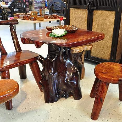 Mesa madera maciza raíz Madera Muebles de Jardín muebles de ...