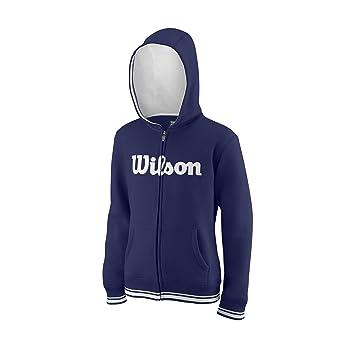 Wilson Sudadera con capucha para niños, Y Team Script FZ Hoody, Algodón/Poliéster