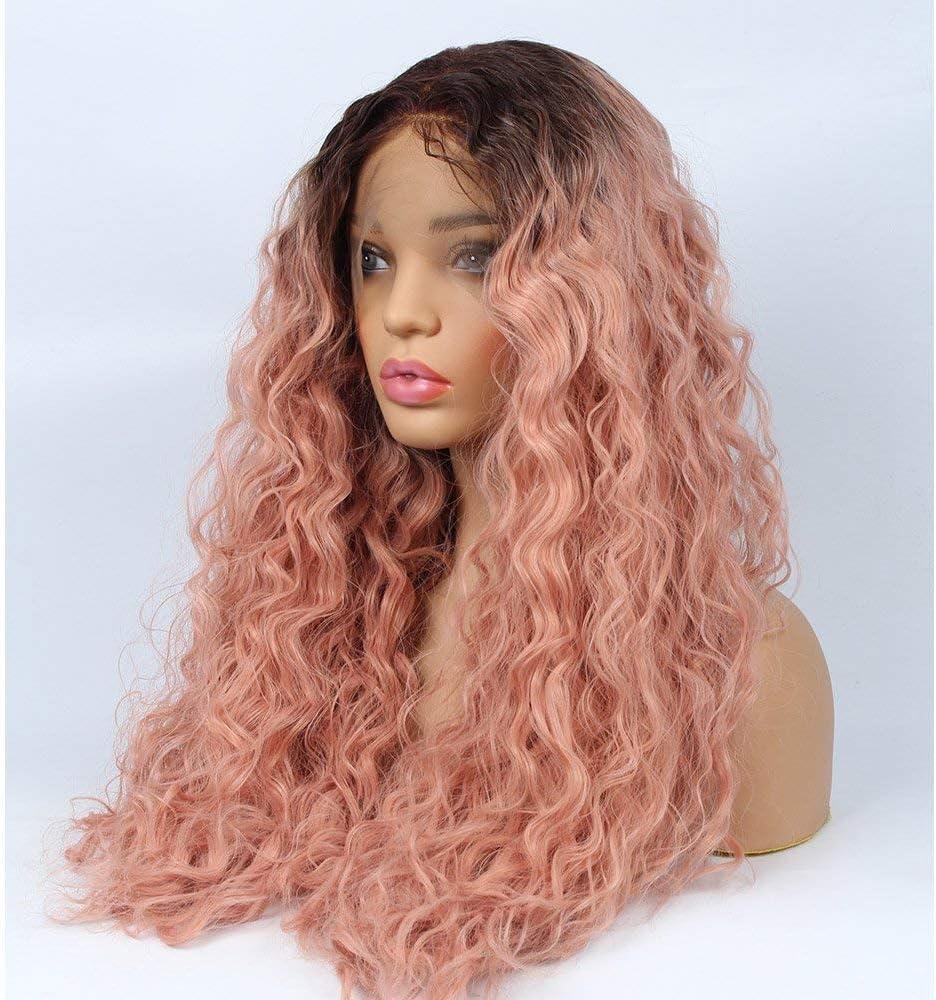 Rosa Meisijia Parrucca di Capelli a Spirale Ricci Lunghi Grandi Parrucca di Colore di Rainbow Parrucche Lunghe di Cosplay dei Capelli Ricci Blue