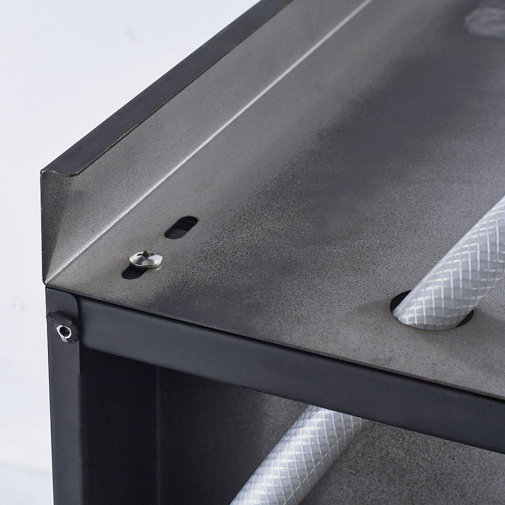 ABS doccia a mano soffione Auralum/® Pannello colonna doccia idromassaggio in acciaio 4 funzioni set doccia completo con Soffioni doccia