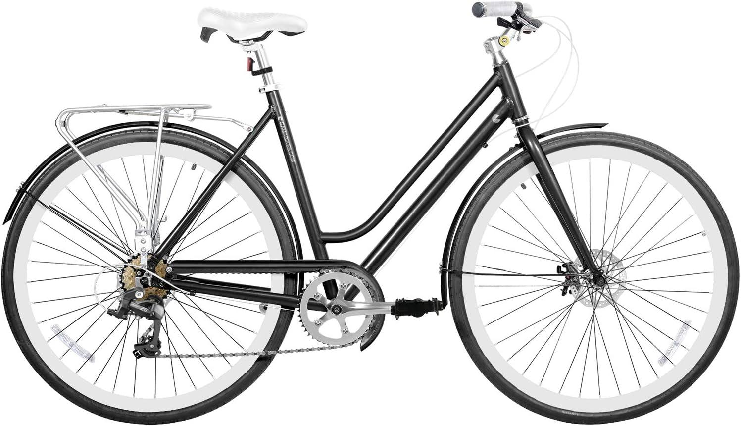 Metropole Women Pitch 700 28 Light Aluminium Disc Brake 7 Speed Fire Shifter City Bike Commuter Comfort Gama Bikes Metropole Women Black Medium