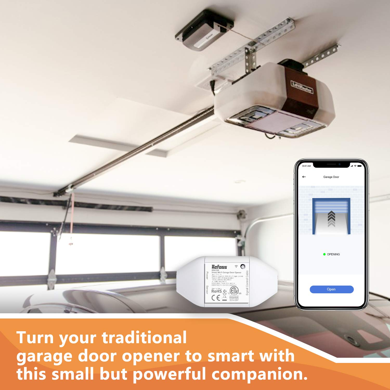 APP Control Compatible with Alexa Refoss Smart Wi-Fi Garage Door ...