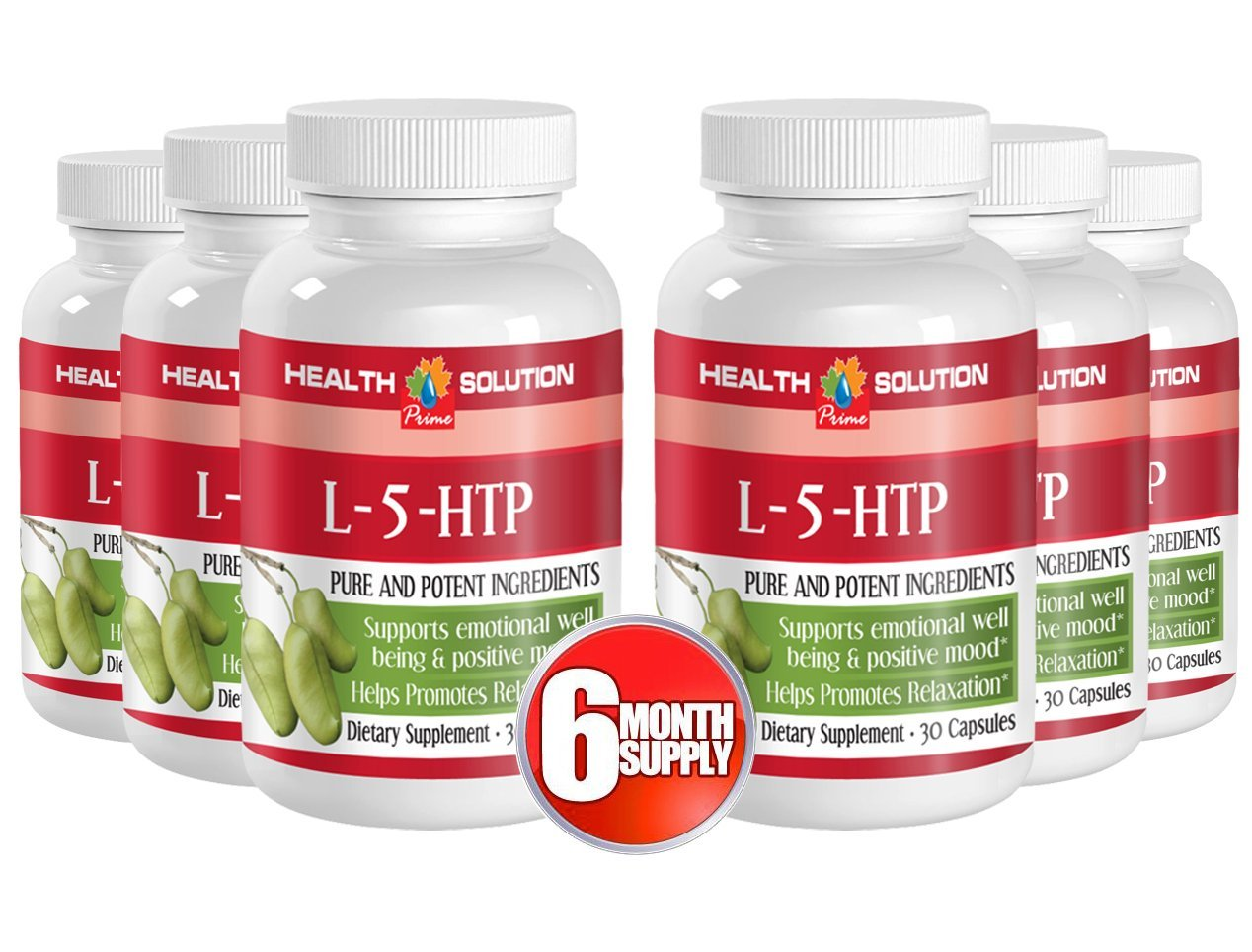 5 htp l tyrosine - L-5-HTP - brain and memory support (6 Bottles) by Health Solution Prime