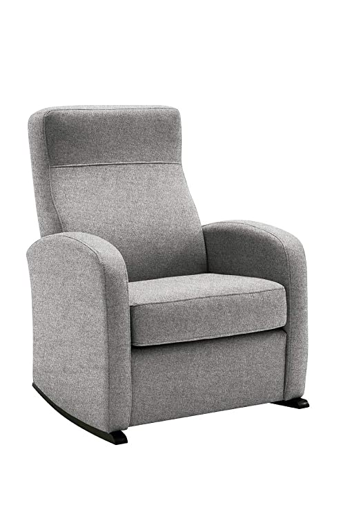 HOGAR TAPIZADO Butaca sillón Balancín Bob (Ideal para Lactancia) Tapizado en Microfibra (Water REPELENT) Color Plata Medidas: 74 x 72 x 100
