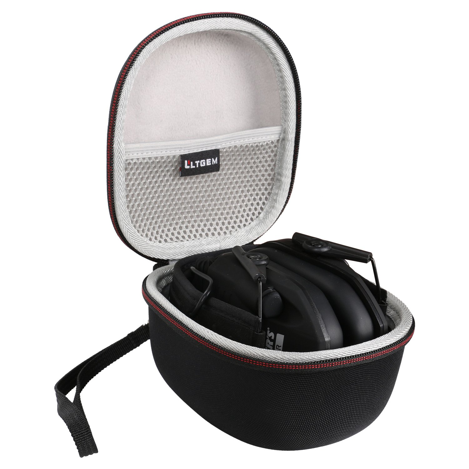 LTGEM Case for Walker's Game Ear Razor Slim Electronic Muff with Mesh Pocket for Accessories.