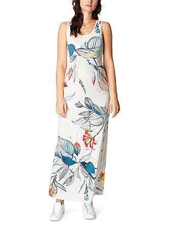 Noppies Dress SL Long Neve AOP 70215, Robe-Maternité Femme, (Off White C010), 42 (Taille Fabricant : L)