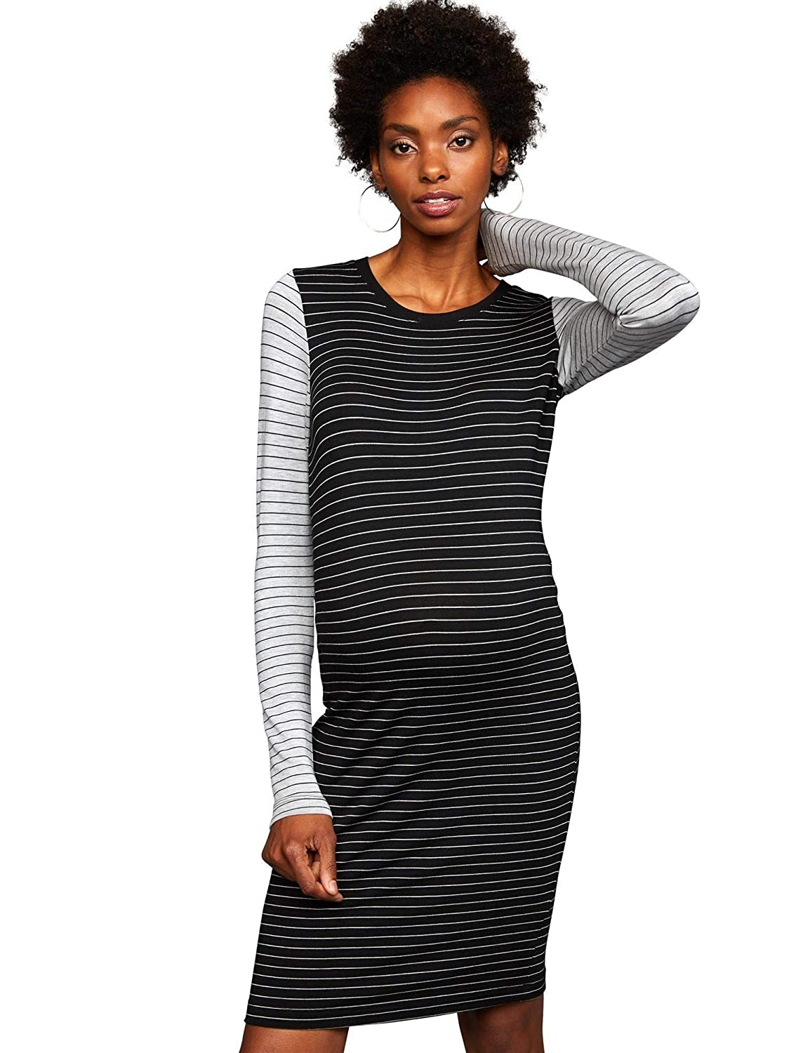 0d2747fb3eec0 A Pea in the Pod Colorblock Maternity Dress at Amazon Women's Clothing  store: