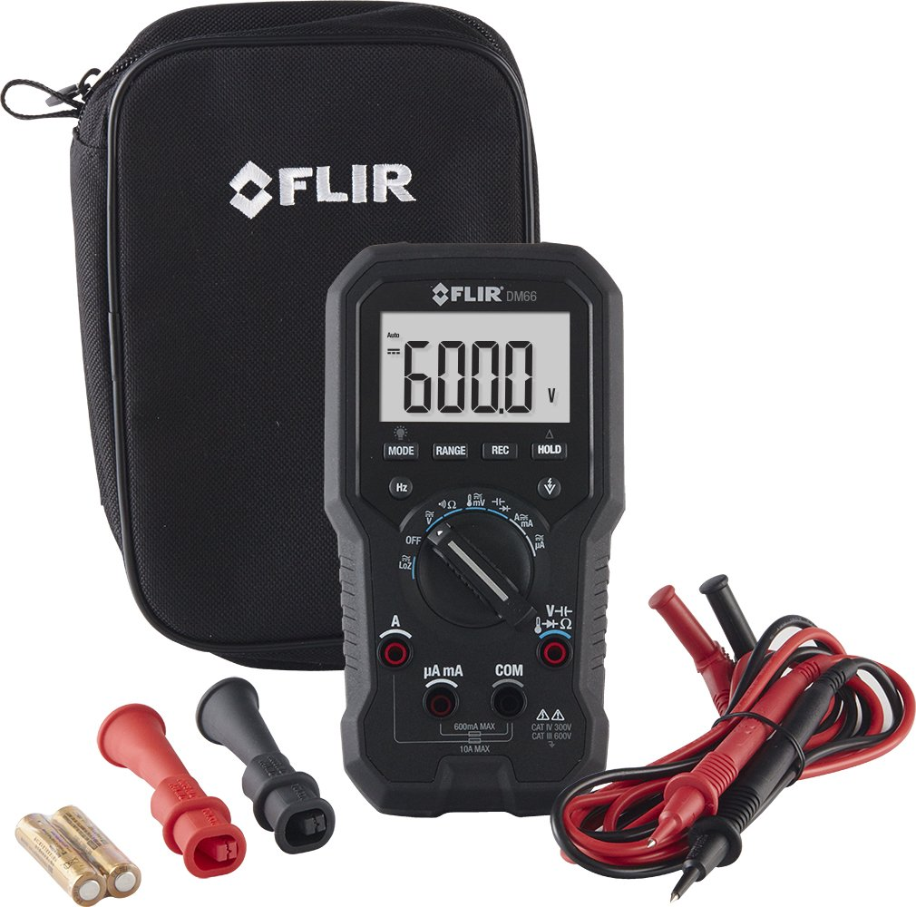 Flir Dm66 Electrical And Field Service Trms Multimeter With Vfd Mode Lcr Bridge Patch Clamp Measure Smd Universal Clip Multipurpose Test