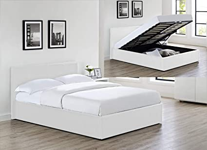 Awesome Faux Leather Ottoman Storage Gas Lift Up Bed In And Sizes White Single 3Ft Unemploymentrelief Wooden Chair Designs For Living Room Unemploymentrelieforg