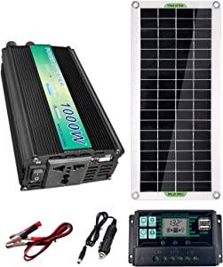 TZUTOGETHER 20W 5-18V Monocrystalline Solar Panel kit, Solar RV Kit with 1000W Inverter +100A Controller for Home System, Camper, Vehicle, Boat Any Other Off Grid Applications
