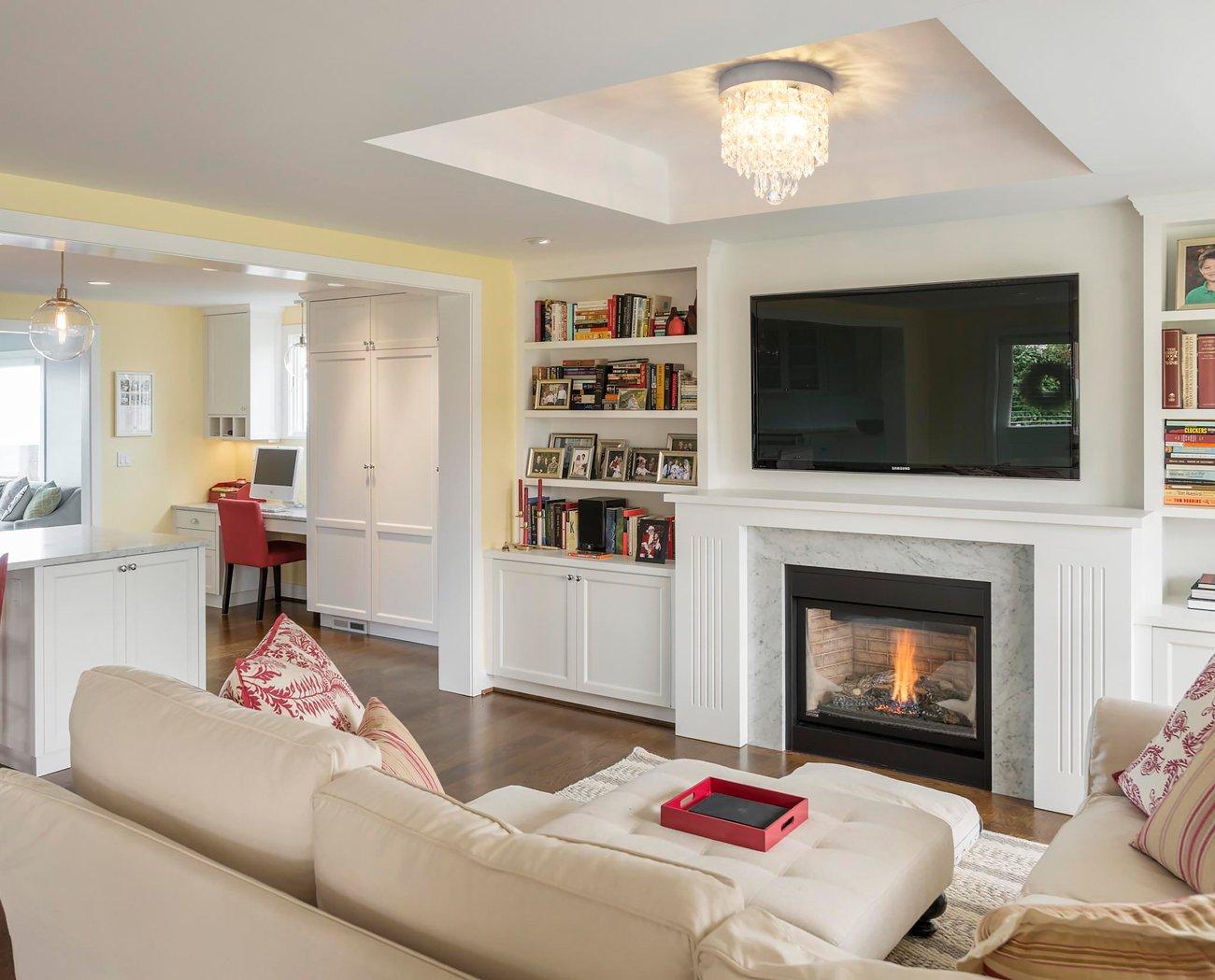 SHINE HAI Crystal Chandelier, 3-light Modern Flush Mount Ceiling Pendant Light H9.45'' X W8.66'' for Bedroom, Living Room, Dining Room, Kitchen, Hallway by SHINE HAI (Image #7)