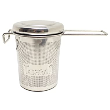 Teavli Long Handle In-Mug Tea Infuser | Extra-Fine Stainless Steel Mesh Tea Infuser, Perfect Loose-Leaf Tea Infuser for Brewing Tea Directly in Cup