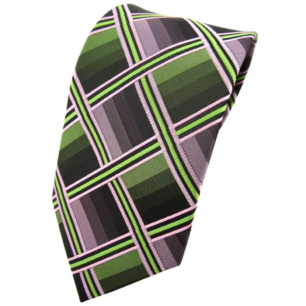 TigerTie - Corbata - verde cal rosa antracita gris a cuadros ...