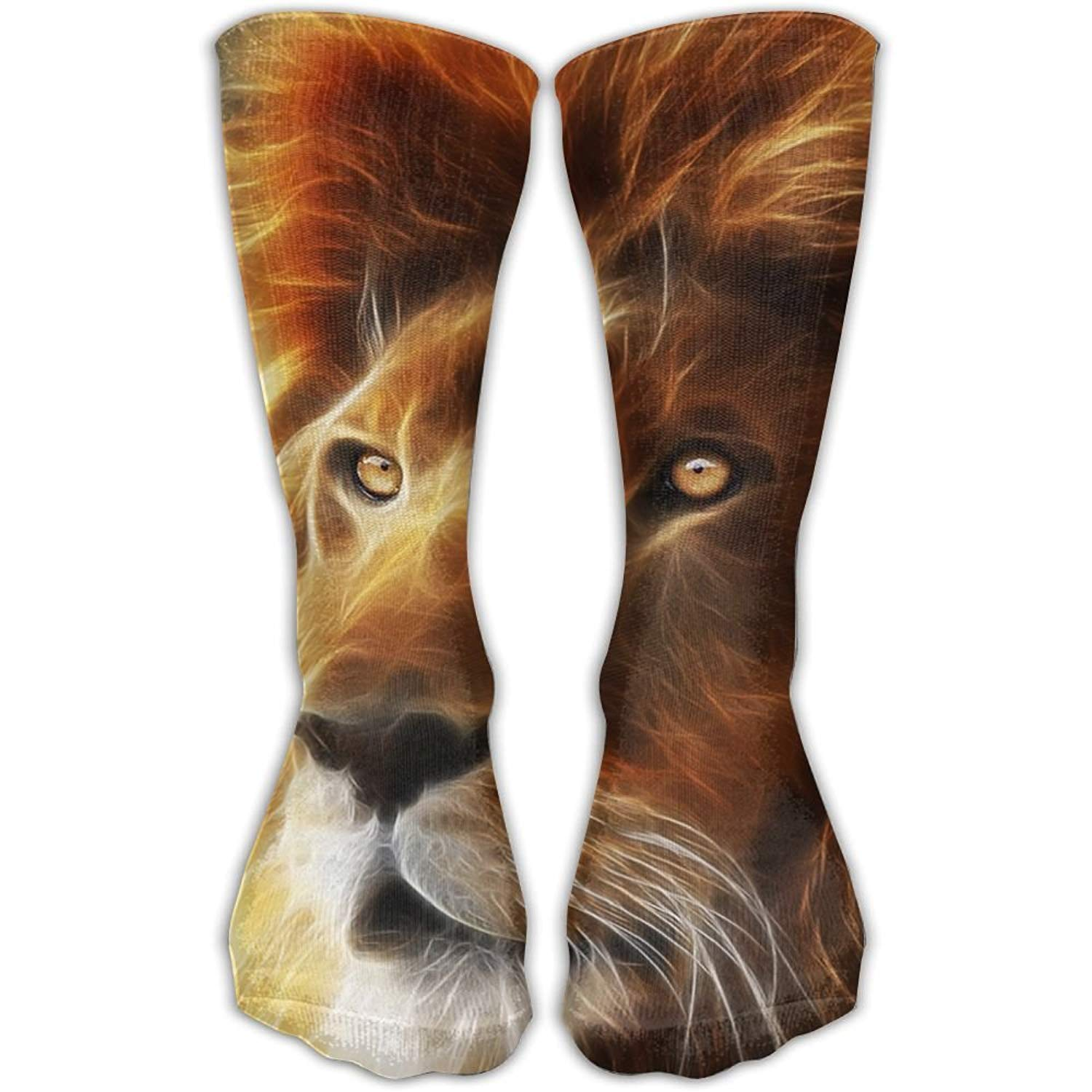 Unisex Fire Lion Galaxy Fashion Crew Sock Athletic Ankle Dress Sock One Size shower curtain liner