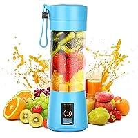 Persoonlijke mixer, draagbare sappers, elektrische fruitmixer, mini blender smoothie maker, USB-sapmixer, oplaadbaar, 6…