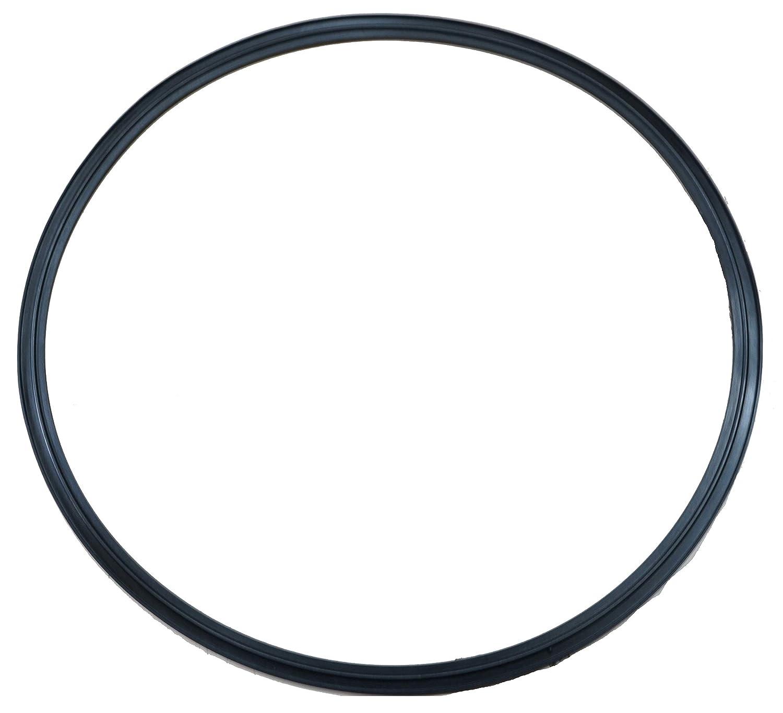 """DR-COMPONENT 8"""" Sanitary Standard Flange Tri-Clamp Gaskets, (Pack of 2),Black Buna-N (NBR)"""