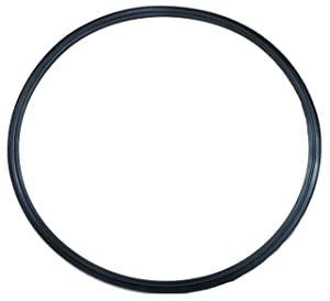 "DR-COMPONENT 10"" Sanitary Standard Flange Tri-Clamp Gaskets, (Pack of 2),Black Buna-N (NBR)"