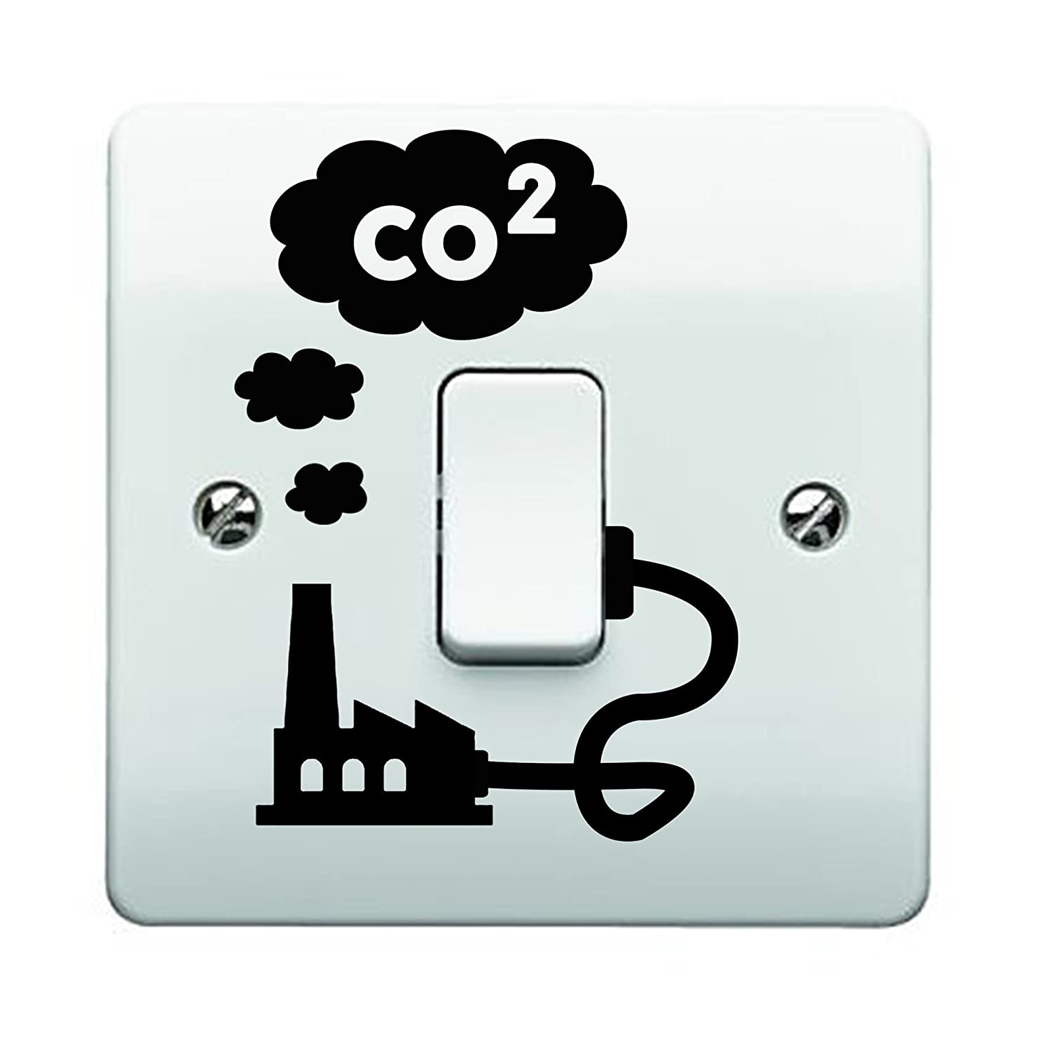 Factory CO2 Smoke Emissions Light Switch Sticker (With Cable) JustStickers®