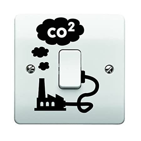 Factory CO2 Smoke Emissions Light Switch Sticker (With Cable)