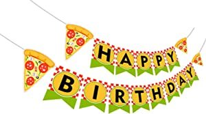 Pizza Happy Birthday Birthday Banner, Pizza Banner, Pizza Birthday Party Decorations, Pizza Party Supplies.
