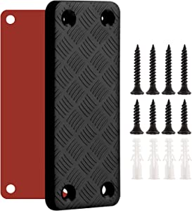 Gun Magnet Mount, Weapon Concealment Magnetic Holders 55-Pound Capacity Magnet Rack with Screw and Adhesive, for Home, Vehicle, Wall, Bedside, Doorway, Desk