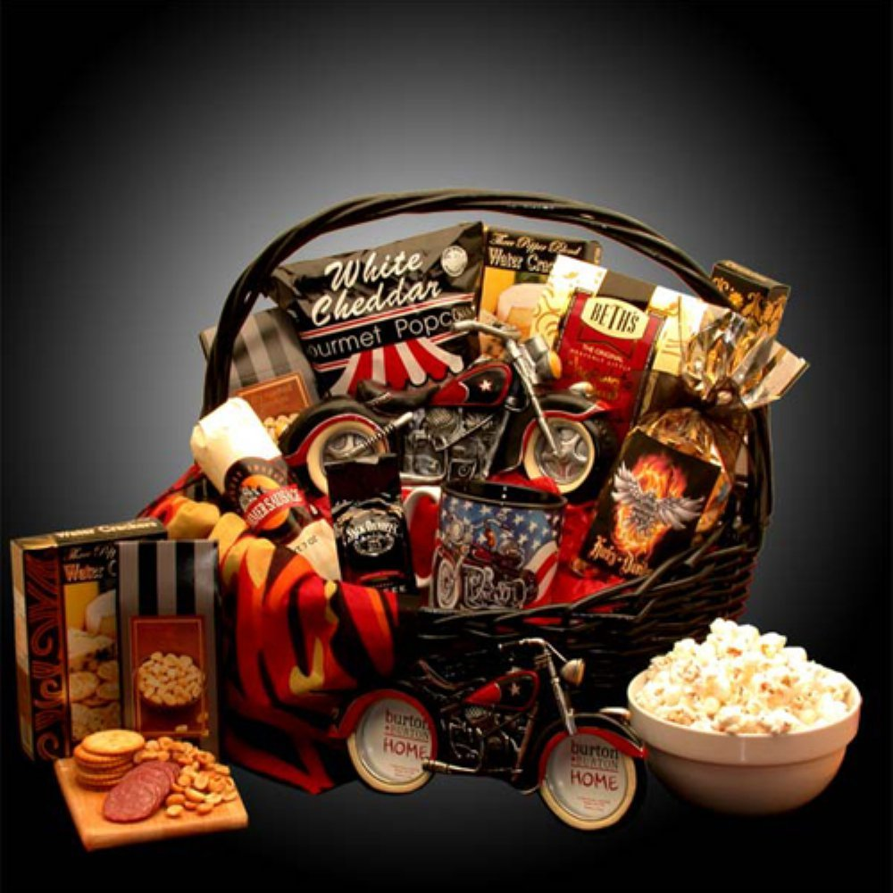 Organic Stores Motorcycle Gift: He's a Motorcycle Man Gift Basket