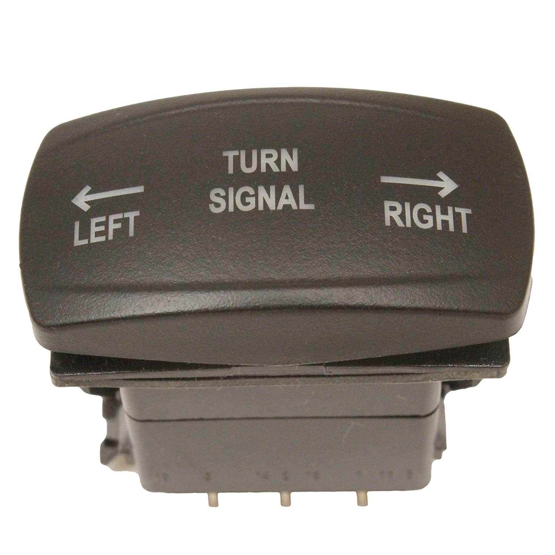 Blue Backlit Rocker Turn Signal Switch and LED Flasher Relay Combo Kit Horizontal