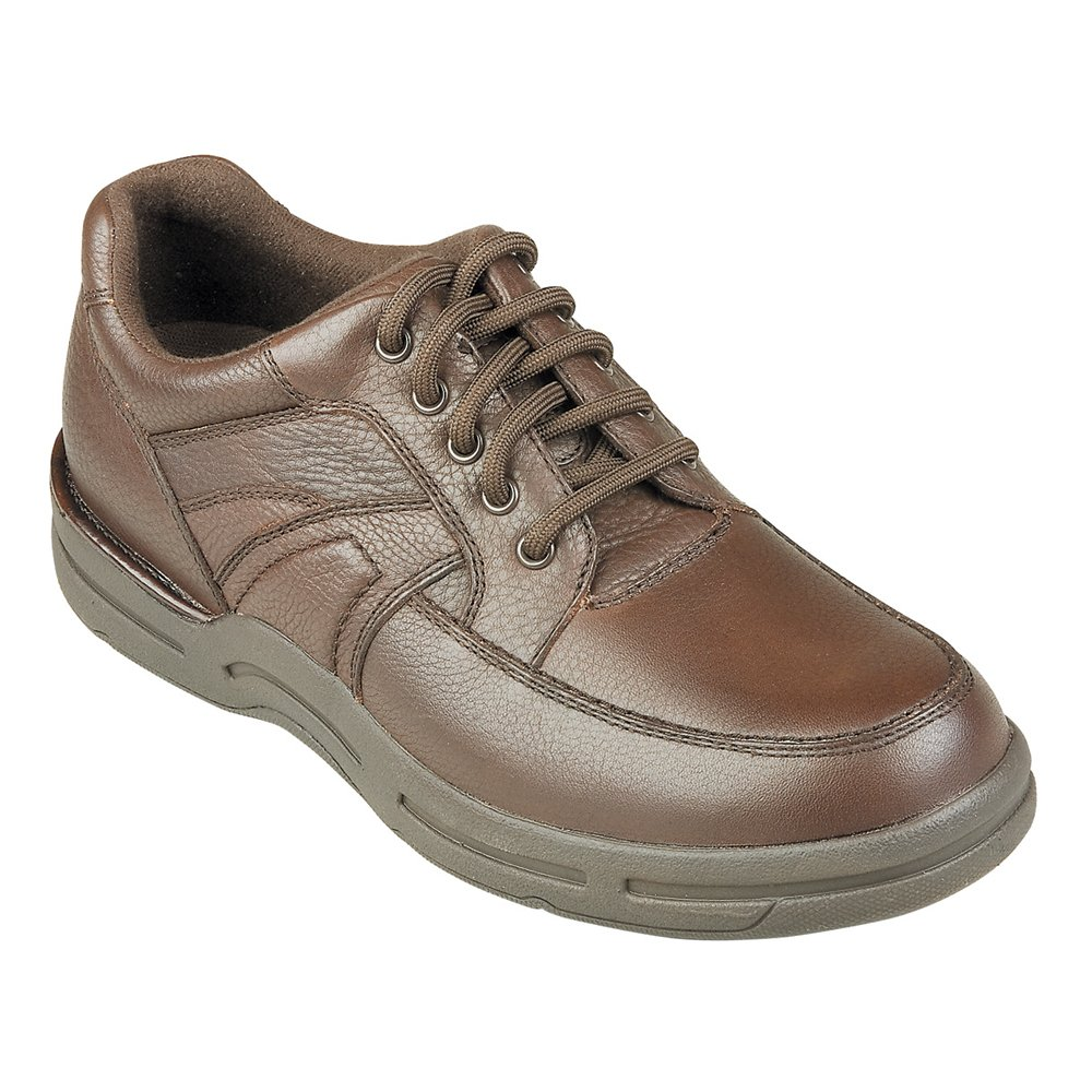 InStride Dakota Men's Comfort Therapeutic Extra Depth Casual Shoe leather lace-up 12.0 Medium (D) Brown Lace US Men|Brown