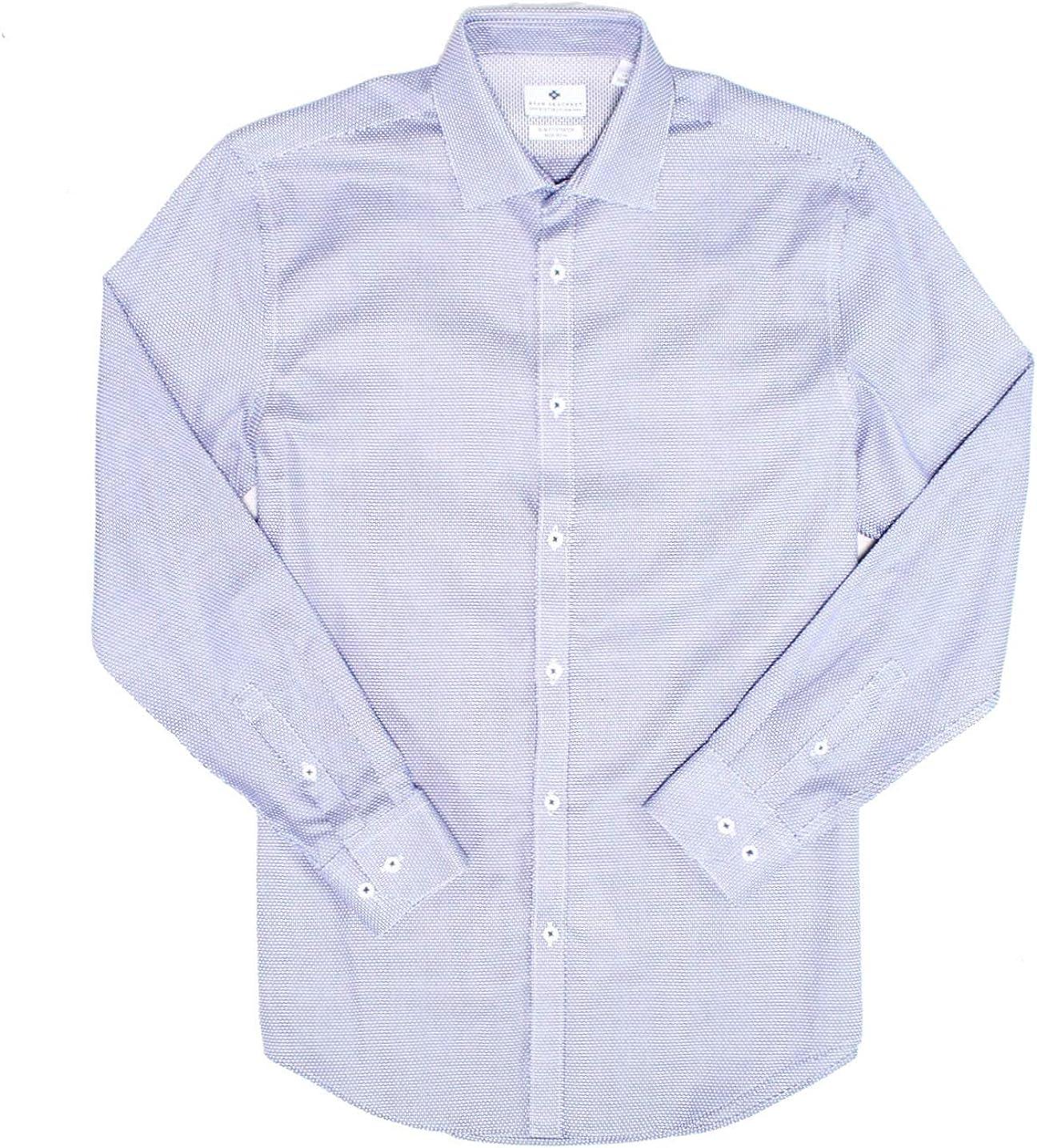 Ryan Seacrest Mens Woven Geometric Button Up Shirt